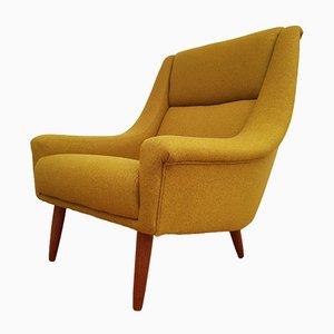 Dänischer moderner skandinavischer Sessel aus Teak & Wolle, 1970er