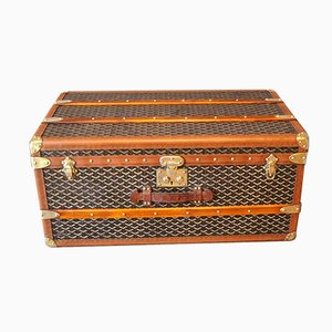 French Chevron Trunk from Goyard, 1920s