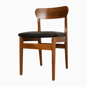 Leather and Teak Dining Chairs by Nils Jonsson for Hugo Troeds, 1960s, Set of 8