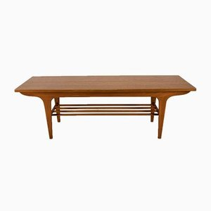 Mid-Century Beech and Teak Coffee Table, 1960s