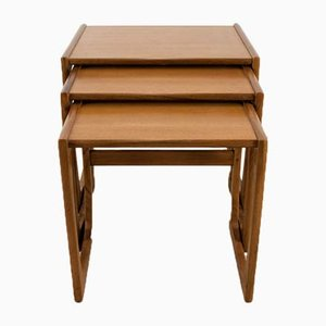 Quadrille Teak Nesting Tables by Robert Bennett for G-Plan, 1960s