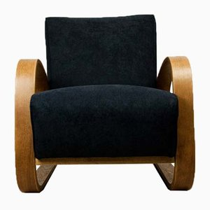 Art Deco Black Armchair by Miroslav Navratil for UP Závody, 1920s