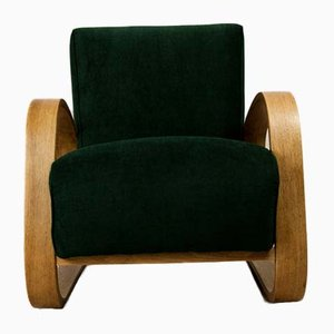 Art Deco Green Armchair by Miroslav Navratil for UP Závody, 1920s