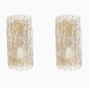 Applique in cristallo di Carl Fagerlund per Lyfa, Danimarca, anni '60, set di 2