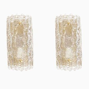 Danish Crystal Sconces by Carl Fagerlund for Lyfa, 1960s, Set of 2