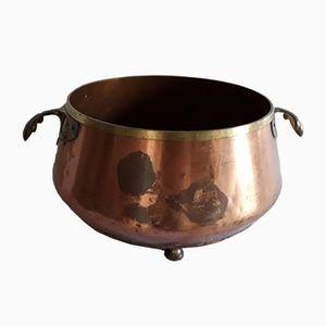 Cache-Pot Antique en Cuivre et Bronze