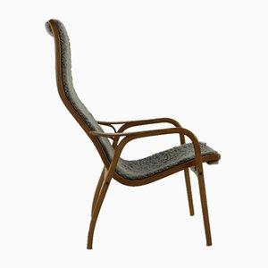 Moderner skandinavischer Sessel aus Schichtholz & Wolle von Yngve Ekström für Swedese, 1960er