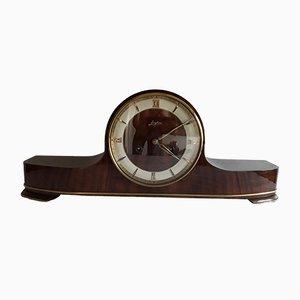 Horloge de Cheminée Vintage en Bois de Junghans