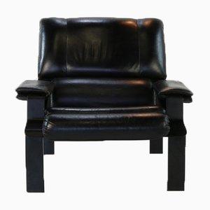 Chaise longue LEM de cuero y acero tubular de Joe Colombo para Bieffeplast, 1972