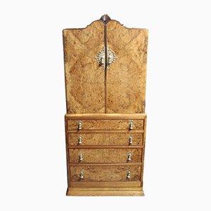 Large Vintage Walnut Dresser Cabinet, 1920s