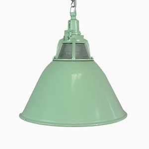 Mid-Century Glass and Iron Pendant Lamp, 1960s