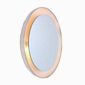 Espejo retroiluminado redondo blanco de Mathieu Matégot para Artimeta, años 50