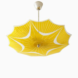 Czechoslovak Glass Sunshade Ceiling Lamp from Napako, 1960s