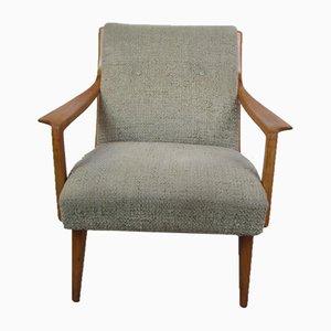 Vintage Sessel mit Gestell aus Kirschholz, 1970er