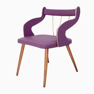 Mid-Century Sessel aus Buche & Skai, 1950er