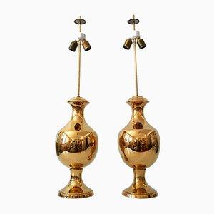 Lampes de Bureau en Céramique de Behreno Firenze, Italie, 1960s, Set de 2