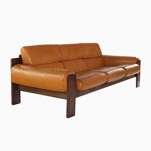 Scandinavian Modern Rosewood and Leather Sofa from Uu-Vee Kaluste Oy, 1960s