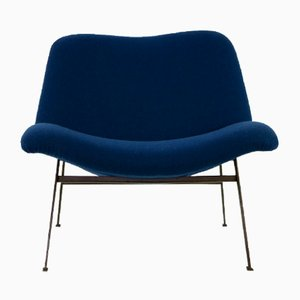 Cast Iron and Wool Chaise Lounge, 1960s
