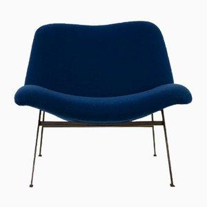 Chaise longue de hierro fundido y lana, años 60