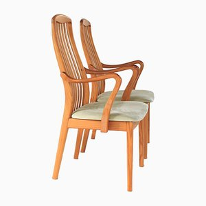 Dänische Esszimmerstühle aus Teak von Schou Andersen, 1960er, 2er Set