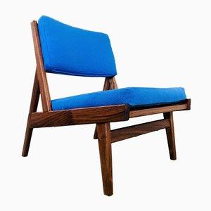 Dänischer Sessel mit Gestell aus Nussholz von Jens Risom für Rocket, 2000er