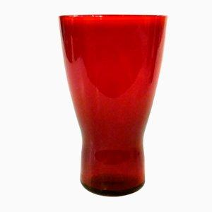 Swedish Red Glasses by Monica Bratt for Reijmyre Glasbruk, 1950s, Set of 6