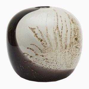 Vaso in fibra di vetro e vetro soffiato a mano di Benny Motzfeldt per PLUS Glasshytte, anni '70