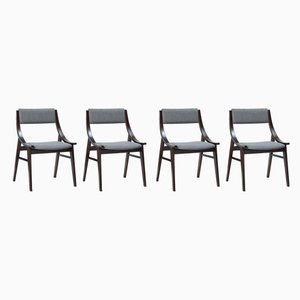Dining Chairs from Zamość Furniture Factory, 1960s, Set of 4