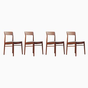 Model 26 Rosewood Chairs by Henning Kjærnulf for K.S Mobelfabrik, 1960s, Set of 4