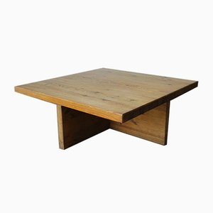 Swedish Solid Pine Coffee Table by Sven Larsson, 1960s