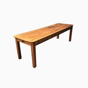 Mid-Century Rustic Dutch Pine Dining Table, 1940s