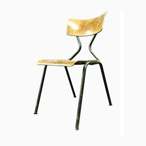 Stuhl aus Stahl & Holz, 1960er