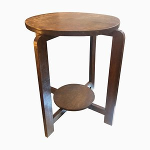 Art Deco Dutch Oak Side Table, 1930s
