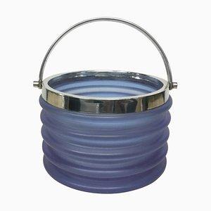 Onda Purple Crystal Ice Bucket by Sergio Asti for Arnolfo di Cambio, 1970s