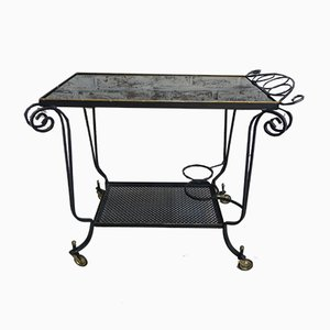 Vintage Serving Trolley with Swivel Wheels
