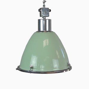 Lampada industriale verde, anni '60