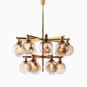 Scandinavian Modern 15-Light Chandelier by Hans-Agne Jakobsson, 1960s