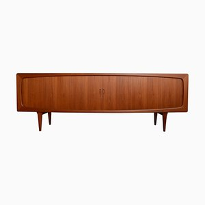 Mid-Century Danish Teak Tambour Sideboard by Hans Peter Hansen for Skive, 1960s