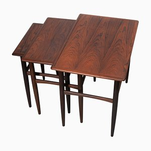 Vintage Danish Rosewood Nesting Tables, 1960s