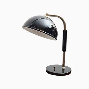 Deutsche Art Deco Schreibtischlampe aus Bakelit & verchromtem Messing