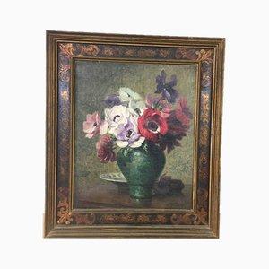 Bouquet Stilleben von P. Perrette, 1940er