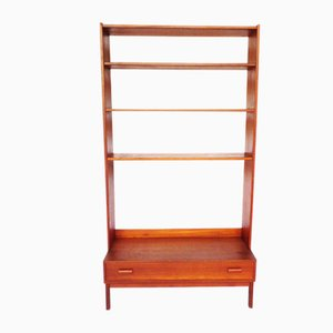 Scandinavian Teak Shelf with Drawer, 1960s
