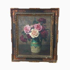 Bouquet Still Life de P. Perrette, años 40