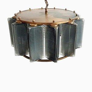 Lámpara de araña sueca Mid-Century de Carl Fagerlund para Orrefors