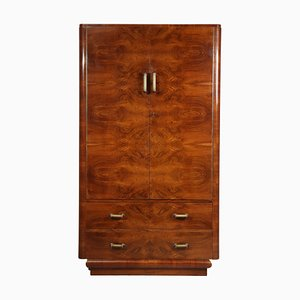 Art Deco Walnut Wardrobe, 1930