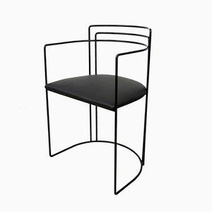 Sessel aus Kunstleder und Metall, 1980er