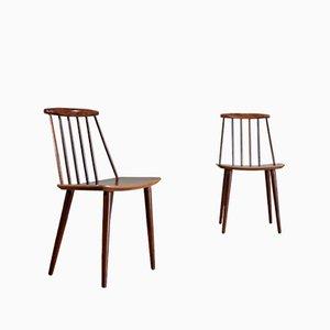 J77 Dining Chairs by Folke Pålsson for FDB Møbelfabrik, 1960s, Set of 2