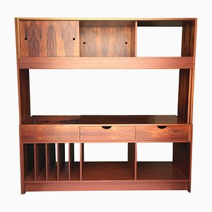 Vintage Jacaranda Veneered Wall Unit, 1970s