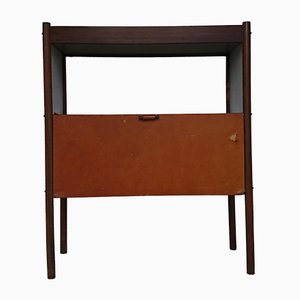Rosewood, Leather & Jacaranda Bar Cabinet by Jorge Zalszupin for Atelier A, 1950s