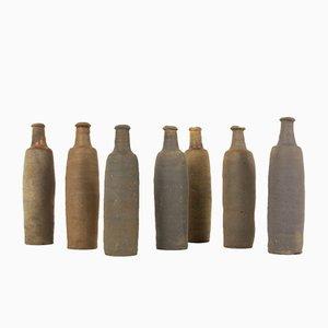 Mid-Century Stoneware Vases, 1950s, Set of 7